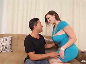 Shaft Deep-throating Slut Sara Jay Uses Her Moist Coochie To Milk Cock