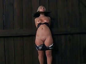 Ball-gagged added to hard in the air up loveliness gets their way clits pleasured
