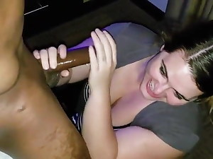 Married pawg still sucking on black dick