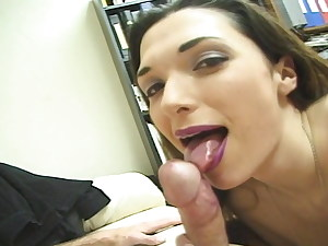 Sabrina Johnson deep throats thick cock
