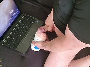 CrazyFetishCouple - Jerking on the sub with the masturbator