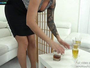 Just Anal presents - Blanche Summer and 2 of her friends