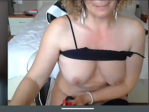 Sexy mature K showcase masturbation big tits
