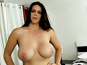 Sensuous brown-haired with large melons, Alison Tyler luvs to gargle pink cigar and taste some new jism