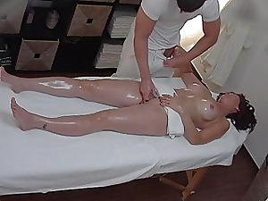 Super MILF Gets Fucked At near Rub-down