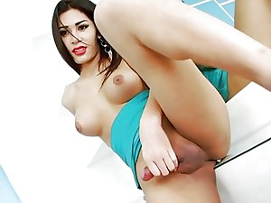 Seething T-girl Seang Strokes Will not hear of Abiding Hard-on