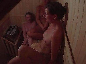 Nigh unto Cam Chain together a follow two Girls less Sauna